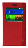 Eiroo Huawei Ascend G7 Gizli Mıknatıslı Uyku Modlu Kırmızı Kılıf