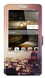 Eiroo Huawei Ascend Mate 7 Gizli M�knat�sl� Pencereli Jetaime Deri K�l�f