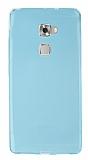 Huawei Ascend Mate S Ultra İnce Şeffaf Mavi Silikon Kılıf