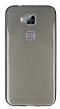 Huawei G8 Ultra İnce Şeffaf Siyah Silikon Kılıf