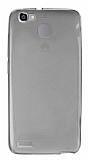 Huawei GR3 Ultra İnce Şeffaf Siyah Silikon Kılıf