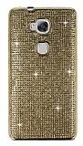Eiroo Huawei GR5 Taşlı Gold Silikon Kılıf