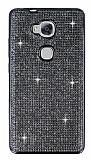 Eiroo Huawei GR5 Taşlı Siyah Silikon Kılıf