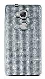 Eiroo Huawei GR5 Taşlı Silver Silikon Kılıf