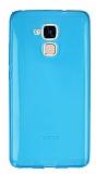 Huawei GT3 Ultra İnce Şeffaf Mavi Silikon Kılıf
