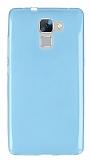 Huawei Honor 7 Ultra İnce Şeffaf Mavi Silikon Kılıf