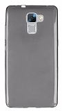 Eiroo Huawei Honor 7 Ultra İnce Şeffaf Siyah Silikon Kılıf