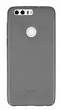 Huawei Honor 8 Ultra İnce Şeffaf Siyah Silikon Kılıf