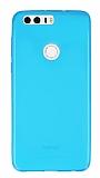 Eiroo Huawei Honor 8 Ultra İnce Şeffaf Mavi Silikon Kılıf