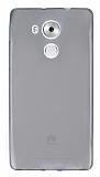Huawei Mate 8 Ultra İnce Şeffaf Siyah Silikon Kılıf