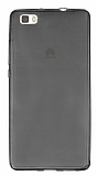 Huawei P8 Lite Ultra İnce Şeffaf Siyah Silikon Kılıf