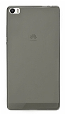 Huawei P8max Ultra İnce Şeffaf Siyah Silikon Kılıf