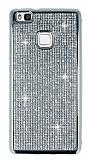 Eiroo Huawei P9 Lite Taşlı Silver Silikon Kılıf