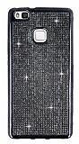 Eiroo Huawei P9 Lite Taşlı Siyah Silikon Kılıf
