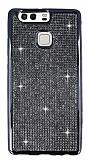 Eiroo Huawei P9 Taşlı Siyah Silikon Kılıf