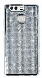 Eiroo Huawei P9 Taşlı Silver Silikon Kılıf