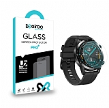 Eiroo Huawei Watch GT 2 Tempered Glass Premium Full Cam Ekran Koruyucu (46 mm)