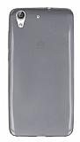Huawei Y6 ii Ultra İnce Şeffaf Siyah Silikon Kılıf