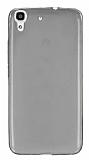 Huawei Y6 Ultra İnce Şeffaf Siyah Silikon Kılıf