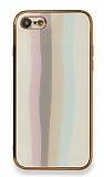 Eiroo Hued iPhone 7 / 8 Cam Beyaz Rubber Kılıf