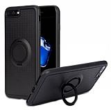 Eiroo Infinity Ring iPhone 7 Plus / 8 Plus Selfie Yüzüklü Siyah Silikon Kılıf