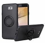 Eiroo Infinity Ring Samsung Galaxy A5 2017 Selfie Yüzüklü Siyah Silikon Kılıf
