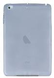 iPad Mini / Mini 2 / Mini 3 Ultra İnce Şeffaf Siyah Silikon Kılıf