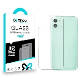Eiroo iPhone 12 Mini 5.4 inç Tempered Glass Arka Cam Gövde Koruyucu