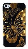 Eiroo iPhone 4 / 4S Parlak Kelebek Silikon K�l�f