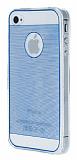 Eiroo iPhone 4 / 4S Silikon Kenarl� Ultra �nce Kristal Mavi K�l�f