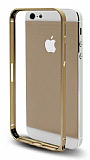 Eiroo iPhone 5 / 5S Gold Metal Bumper K�l�f