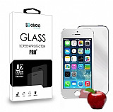 Eiroo iPhone 5 / 5S �n + Arka Tempered Glass Ayna Silver Cam Ekran Koruyucu