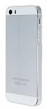 Eiroo iPhone 5 / 5S Beyaz �erit Silikon K�l�f