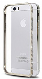 Eiroo iPhone 5 / 5S Ta�l� Metal Bumper �er�eve Gold K�l�f