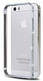 Eiroo iPhone 5 / 5S Ta�l� Metal Bumper �er�eve Silver K�l�f
