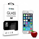 Eiroo iPhone 5 / 5S Tempered Glass Ayna Silver Cam Ekran Koruyucu