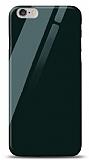 Eiroo iPhone 6 / 6S Silikon Kenarlı Yeşil Cam Kılıf