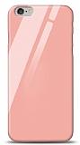 Eiroo iPhone 6 / 6S Silikon Kenarlı Turuncu Cam Kılıf