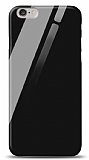Eiroo iPhone 6 / 6S Silikon Kenarlı Siyah Cam Kılıf