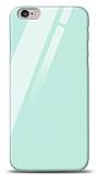 Eiroo iPhone 6 / 6S Silikon Kenarlı Mavi Cam Kılıf