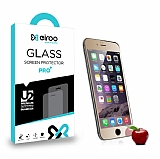 Eiroo iPhone 6 Plus / 6S Plus Tempered Glass Ayna Gold Cam Ekran Koruyucu
