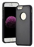 Eiroo Sticker iPhone 6 Plus / 6S Plus Yapışan Siyah Rubber Kılıf