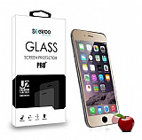 Eiroo iPhone 6 Plus / 6S Plus Ön + Arka Tempered Glass Ayna Gold Cam Ekran Koruyucu