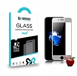 Eiroo iPhone 7 Ön + Arka Tempered Glass Ayna Silver Cam Ekran Koruyucu