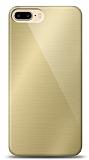 Eiroo iPhone 7 Plus / 8 Plus Silikon Kenarlı Aynalı Gold Kılıf