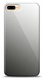 Eiroo iPhone 7 Plus / 8 Plus Silikon Kenarlı Aynalı Siyah Kılıf
