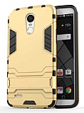 Eiroo Iron Armor LG Stylus 3 Standlı Ultra Koruma Gold Kılıf