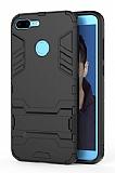Eiroo Iron Armor Huawei P Smart Standlı Ultra Koruma Siyah Kılıf