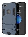 Eiroo Iron Armor iPhone 6 / 6S Standlı Ultra Koruma Lacivert Kılıf