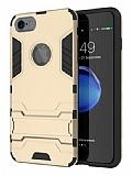 Eiroo Iron Armor iPhone 6 / 6S Standlı Ultra Koruma Gold Kılıf